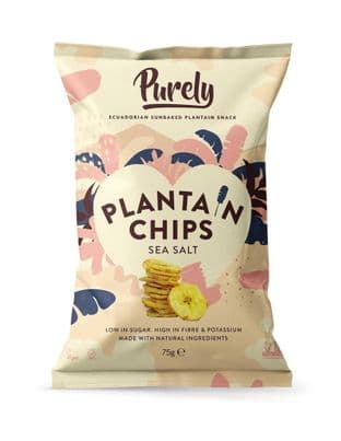PURELY PLANTAIN Plantain Chips - Salted 75g